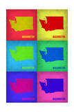 Washington Pop Art Map 1 Poster by  NaxArt