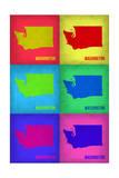 Washington Pop Art Map 1 Poster by  NaxArt