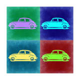 VW Beetle Pop Art 3 Premium Giclee Print by  NaxArt