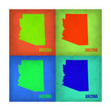 Arizona Pop Art Map1 Posters by  NaxArt