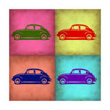 VW Beetle Pop Art 1 Premium Giclee Print by  NaxArt