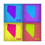 Nevada Pop Art Map 1 Print by  NaxArt