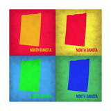 North Dacota Pop Art Map 1 Poster by  NaxArt