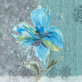 Flower in Blue I Posters