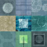 Quilt Square Collage II Prints