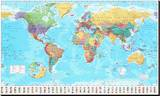 World Map Stretched Canvas Print
