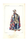 Baritone Singer Pierre-Marie Laurent As the King in Si J'etais Roi at the Theatre Lyrique in 1852 Giclee Print by Alexandre Lacauchie