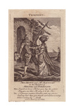Miss Brown As Miranda And Mr. George Mattocks As Ferdinand in Shakespeare's the Tempest Giclee Print by Robert Dighton