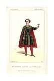 Mlle. Scriwaneck in Costume As Satan in Les Enfers De Paris at Theatre Des Varietes Giclee Print by Alexandre Lacauchie