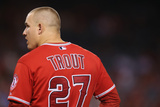 Sep 02, 2013 - Anaheim, CA: Tampa Bay Rays v Los Angeles Angels of Anaheim - Mike Trout Photographic Print by Jeff Gross