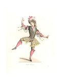 French Man in Ballet Costume, 17th Century, From a Ballet Danced by King Louis XIV in Aix in 1660 Giclee Print by Edmond Lechevallier-Chevignard