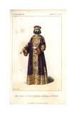 Louis-Henri Obin in the Role of Nicephore, Emperor of the Orient, in Le Juif Errant Giclee Print by Alexandre Lacauchie