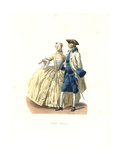 Officer (governor of the Port of Marseille) And Lady of Quality, France, 18th Century Giclee Print by Edmond Lechevallier-Chevignard