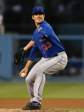 Aug 13, 2013 - Los Angeles, CA: New York Mets v Los Angeles Dodgers - Matt Harvey Photographic Print by Stephen Dunn
