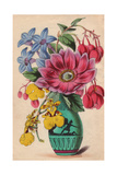 Greek Vase with Hindsia, on cidium Pelicanum Orchid, Begonia And Leadwort Giclee Print by James Andrews