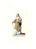 Adolescent of Holland, 17th Century, From a Painting by Pierre Van Slingelandt Giclee Print by Edmond Lechevallier-Chevignard