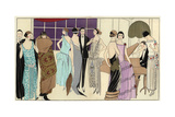 Women in Party Dresses And Man in Tuxedo Playing the Piano From Art, Gout, Beaute 1923 Giclee Print