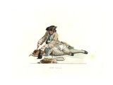 Gentleman in Hunting Clothes, France, 18th Century, From a Painting by Carle Vanloo Giclee Print by Edmond Lechevallier-Chevignard