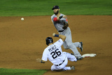 October 16, 2013 - Detroit, MI: ALCS - Boston Red Sox v Detroit Tigers - Game Three Photographic Print by Jamie Squire