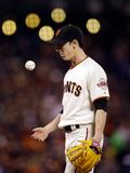 Jul 08, 2013 - San Francisco, CA: New York Mets v San Francisco Giants - Tim Linecum Photographic Print by Ezra Shaw