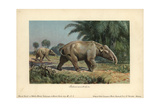 Palaeomastodon, Believed To Be the Ancestors of Elephants Or Mastodons Giclee Print by Heinrich Harder