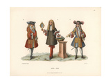 Noblemen of the Late 17th Century, with King Louis XIV of France, Center Giclee Print by Jakob Heinrich Hefner-Alteneck