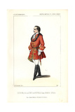 Couderc in Uniform As the Comte De Pepinelli in Marco Spada at the Opera Comique Giclee Print by Alexandre Lacauchie