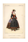 Mlle. Jouve in the Role of Brigite in La Mendiante at the Theatre De La Gaite Giclee Print by Alexandre Lacauchie