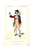 Bernard Dupuis As Noel Plantier in George Sand's Le Pressoir at the Theatre Du Gymnase Dramatique Giclee Print by Alexandre Lacauchie
