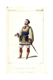 Gustave Roger in the Role of Leon in Le Juif Errant at the Theatre De L'Opera Giclee Print by Alexandre Lacauchie