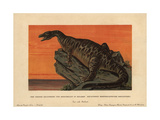 Iguanodon Bernissartensis, Extinct Ground-dwelling Herbivore of the Jurassic Giclee Print by F. John