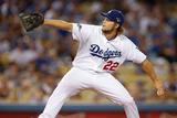 Oct 07, 2013 - LA, CA: National League Division Series Game 4- Braves v. Dodgers - Clayton Kershaw Fotografisk tryk af Rob Leiter