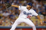 Oct 07, 2013 - LA, CA: National League Division Series Game 4- Braves v. Dodgers - Clayton Kershaw Photographic Print by Rob Leiter