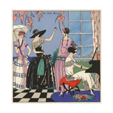 Party Scene with Women in Elegant Evening Wear From Art, Gout, Beaute 1923 Giclee Print