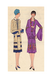 Silk Afternoon Dress And Visiting Dress in Crepe Georgette From Art, Gout, Beaute, 1926 Giclee Print