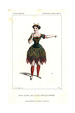 Actress in Costume As the Diable (devil) in Les Sept Merveilles Du Monde at La Porte St. Martin Giclee Print by Alexandre Lacauchie