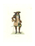French Gentleman in Ceremonial Garb, 17th Century, Possibly Royal Family Giclee Print by Edmond Lechevallier-Chevignard