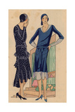 Afternoon Dresses in Glossy Polka-dot Panne And in Crepe Georgine From Art, Gout, Beaute, 1928 Giclee Print