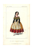 Mlle. Larcena As Manuelita in Pepito at the Theatre Des Varietes Giclee Print by Alexandre Lacauchie