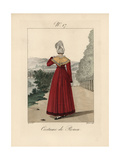 Woman of Rouen Wearing An Elegant Bavolet with Crushed Asymmetrical Base Giclee Print