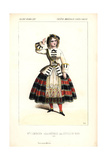 Soprano Singer Marie-Charlotte Lemercier As Nathalie in L'Etoile Du Nord at the Opera Comique Giclee Print by Alexandre Lacauchie