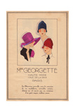 Lilac Hat with Brim, Cloche Bell Hat, And Patterned Cloche Bell Hat From Art, Gout, Beaute, 1926 Giclee Print