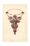 French Art Nouveau Pendant And Necklet by Eugene Grasset (1845-1917) Giclee Print