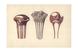 French Art Nouveau Hair Combs in Enamel Giclee Print