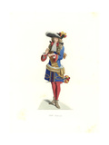 Royal Officer, France, 17th Century Giclee Print by Edmond Lechevallier-Chevignard