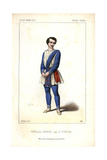 Tenor Singer Parre As the Fisherman Zephoris in Si J'etais Roi at the Theatre Lyrique Giclee Print by Alexandre Lacauchie