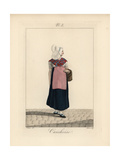 Servant Woman Wearing the Bonnet of Ordinary Women in Yvetot Giclee Print