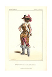 Mlle. Alphonsine in Male Drag As the Princess Castorine in Les Cinq Cents Diables Giclee Print by Alexandre Lacauchie