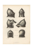 14th Century Helmets From Suits of Armour in the Paris Museum of Artillery Giclee Print by Jakob Heinrich Hefner-Alteneck