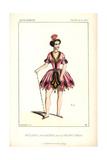 Mlle. Clarisse As Sataniel in Les Cinq Cents Diables at the Theatre De La Gaite Giclee Print by Alexandre Lacauchie